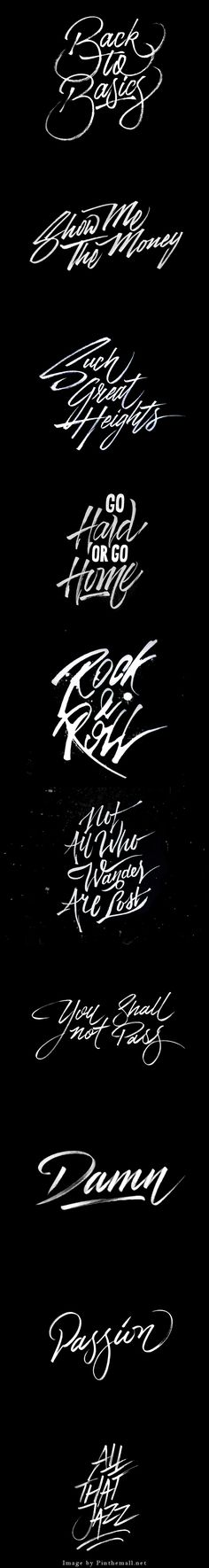 Calligraphy and lettering by Tristan Kromopawiro, Behance