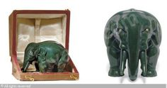 FABERGÉ Karl (Carl), 1846-1920 (Russia) Title : An Unusually Large Jeweled Carved Nephrite Model of an Elephant Date : ca 1900   Category : 20th Century Decorative Arts Medium :