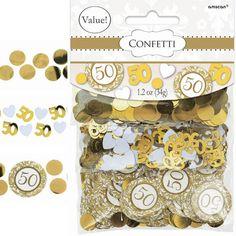 Golden Anniversary Confetti – Mix, 1.2 oz. $3.50