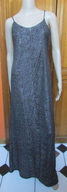 BCBG Black & Silver Full Length Cocktail Slip Dress Sz Small NWT $118 #BCBGeneration #SlipDress #Cocktail