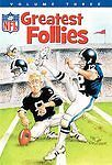 NFL Greatest Follies - Vol. 3 (DVD, 2007) BRAND NEW FACTORY SEALED