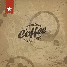 Coffee grunge retro. Foto de archivo - 19187491