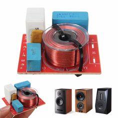 Adjustable Treble Bass Divisor de Frecuencia 2 Way Speaker Audio Crossover Filtros