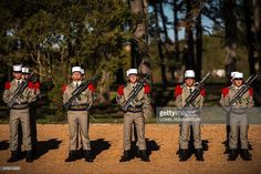 TOPSHOT - Troops of the French Foreign Legion's 13th Demi-Brigade are pictured during a press visit to its future military camp 'Camp du Larzac' in La Cavalerie, on the Plateau of Larzac in the south of the Massif Central on October 21, 2016. / AFP / LIONEL