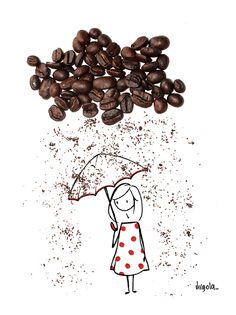 Coffee Art - Coffee As the Art and As the Medium of Art I Love Coffee, Coffee Art, Amazing Drawings, Cute Drawings, Coffee Illustration, Illustration Art, Vincent Bal, Coffee Photography, Creative Artwork