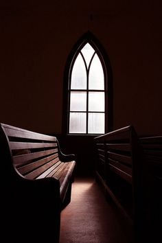 church pew window by theellsworth Old Country Churches, Old Churches, Half Elf, Jesus E Maria, Take Me To Church, Church Interior, Church Building, Chapelle, Place Of Worship