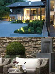 Der Küglerhof | Designhotel | Dorf Tirol near Merano | Italy | http://lifestylehotels.net/en/kueglerhof | Exterior View | Chill-out-Area