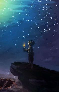 Night sky - Best of Wallpapers for Andriod and ios Scenery Wallpaper, Galaxy Wallpaper, Wallpaper Backgrounds, Ciel Art, Japon Illustration, Sky Art, The Little Prince, Anime Scenery, Moon Art