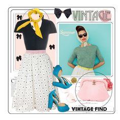 """Vintage Find"" by nantucketteabook ❤ liked on Polyvore"
