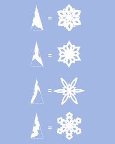 How to make paper snowflakes Crafts -Winter and Christmas – Decor Diy - Weihnachten Diy Christmas Fireplace, Diy Christmas Snowflakes, Snowflake Craft, Christmas Crafts, Paper Snowflake Patterns, Paper Snowflakes Easy, Diy Snowflake Decorations, Snowflake Origami, How To Make Snowflakes