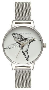 Womens silver hummingbird detail watch by olivia burton from Topshop - £90 at ClothingByColour.com