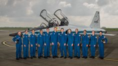 The 2017 NASA Astronaut Class: (from left) Zena Cardman, Jasmin Moghbeli, Jonny Kim, Frank Rubio, Matthew Dominick, Warren Hoburg, Robb Kulin, Kayla Barron, Bob Hines, Raja Chari, Loral O' Hara and Jessica Watkins.