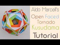 Open Faced Tornado Kusudama Tutorial - YouTube