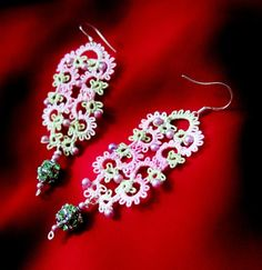 tatting earrings tatted lace erg100