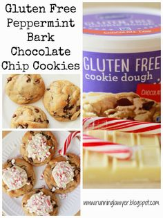Running from the Law: Pillsbury Gluten Free Peppermint Bark Chocolate Chip Cookies