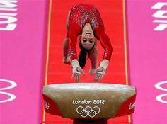 Jordyn Wieber of the U.S. competes on the vault in the team final on Tuesday-GO TEAM USA