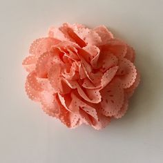"""ONE 3""""  Large Peach Eyelet Fabric Flower-Applique-hairbow supplies-diy wedding-crafts-scrapbook-headband supplies-wholesale Flowers-Bulk by BBBSupply on Etsy"""