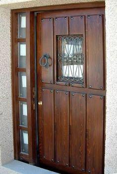 Resultado de imagen para fotos de puertas de madera para exterior