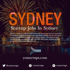 Sydney is home to 1,500 to 2,300 active #tech #startups and half of Australia's 500 largest companies. https://yostartups.com/startup-jobs-in-sydney/