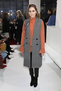 Olivia Palermo attends the Emilia Wickstead show during London Fashion Week February 2018 at Great Portland Street on February 19 2018 in London...