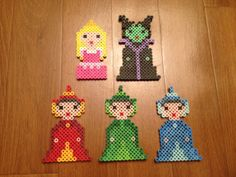 Disney Sleeping Beauty Set Perler Beads magnets by SongbirdBeauty