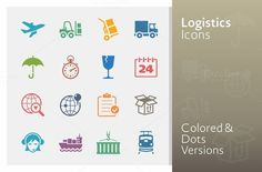 Logistics Icons - Colored Series by@Graphicsauthor