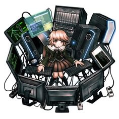 See more 'Danganronpa' images on Know Your Meme! Danganronpa Chihiro, Danganronpa Game, Danganronpa Characters, Anime Characters, Sprites, Alter Ego, Danganronpa Trigger Happy Havoc, Game Character Design, Character Art