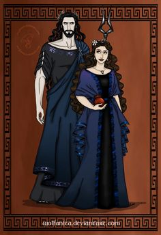 GodsOfAncientGreeceCouples: Hades and Persephone by wolfanita.deviantart.com on @DeviantArt