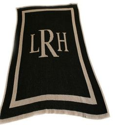 Monogrammed Throw Blanket | Choice of colors with monogram