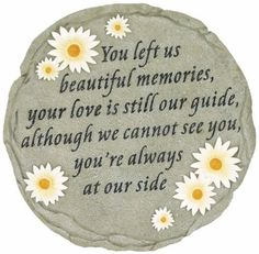 Spoontiques Beautiful Memories Step Stone: High quality indoor or outdoor hand sculpted and hand painted decorative resin Firefighter Wall Plaque or Stepping Stones can be hung on your wall or simply add a welcoming touch to your home, yard or office. Memorial Quotes For Mom, Memorial Gifts, Memorial Ideas, Cat Memorial, Funeral Poems, Mother Poems, Miss You Mom, Grieving Quotes, Memorial Stones