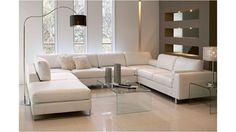 Angora 4 Piece Modular Leather Lounge Suite