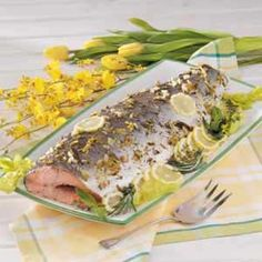 Baked Whole Salmon #tasteofhome #easterdinner