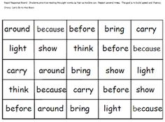 First Grade Shenanigans: Journeys Sight Words
