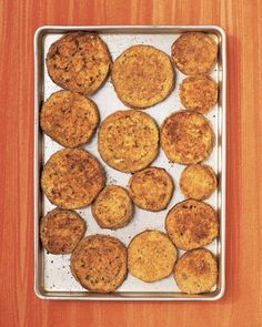 We bake rather than fry ours for less mess and less fat --   Eggplant Parmesan Recipe minus the bread crumbs