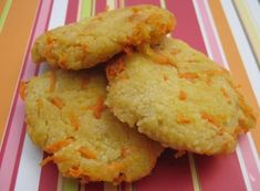 Blog with lots of toddler food recipes - healthy and whole foods.  Pictured is Carrot Couscous Cakes