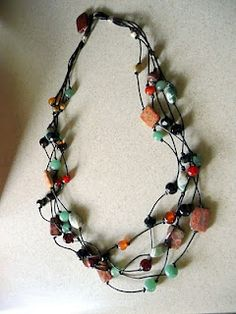 Check out this tutorial for a Multi Strand Leather Necklace from Dana's Jewelry Designs.
