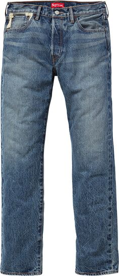 Supreme/Levi's Custom Fit Selvedge 501 Jean #fashion