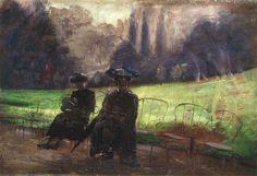 """""""Parc Montsourie"""". (c. 1907) by Eliseu Visconti (Italian/Brazilian 1866-1944)"""