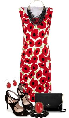"""Poppies"" by maggiesuedesigns ❤ liked on Polyvore"