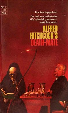 Alfred Hitchcock's Death-Mate ** edited by Alfred Hitchcock Horror Books, Sci Fi Books, Horror Comics, Comic Books, Vintage Book Covers, Comic Book Covers, Vintage Books, Pulp Fiction Book, Science Fiction Books