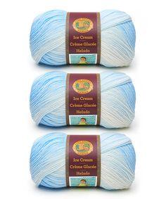 Loving this Blueberry Ice Cream Yarn Skein - Set of Three on #zulily! #zulilyfinds