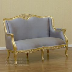 Buy Gold Gilt Versailles 2 Seater Settee | Mahogany Antique Furniture | Indonesia Furniture