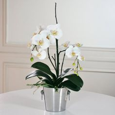 Jane Seymour Phalaenopsis Orchid 23H in. Silk Flower Arrangement - http://yourflowers.us/jane-seymour-phalaenopsis-orchid-23h-in-silk-flower-arrangement/