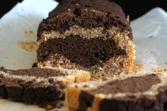 Peanut Butter Chocolate Bolo de mármore [Vegan]