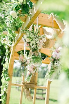 Unique ceremony arch // Photo by http://cynkainphotography.com, see more: http://theeverylastdetail.com/rustic-chic-pennsylvania-barn-wedding/