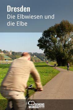 Die Elbwiesen und die Elbe in Dresden Reisen In Europa, Country Roads, Bike, Travel, Green Nature, Wonderful Places, Bike Rides, Bicycle, Viajes