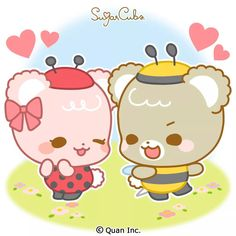 Couple Sketch, Sugar Bears, Cute Love Gif, Cute Love Cartoons, Matching Games, Cute Wallpapers, Art Sketches, Cubs, Animals And Pets