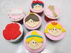 Cupcakes Princesas rosto