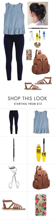 """""""Simple Back to School Look"""" by argenta2410 ❤ liked on Polyvore featuring Vila Milano, Gap, Maybelline, Lancôme, Dasein, K. Jacques and RIFLE"""