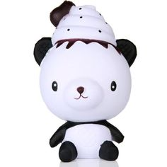Kids Boy Girl Fun Novelty Anti-stress Toy Adult Exquisite Fun Q Poo Panda Scented Squishy Charm Slow Rising Simulation Toy #Affiliate